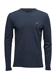 LS Plain T-Shirt - NAVY MARL