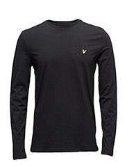 LS Plain T-Shirt - TRUE BLACK