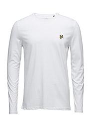 LS Plain T-Shirt - WHITE