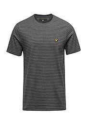 Mouline Stripe T-shirt - CHARCOAL MARL
