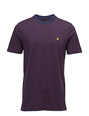 Mouline Stripe T-shirt - NAVY