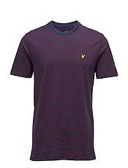 Mouline Stripe T-shirt - NAVY