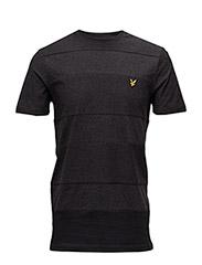 Reverse Stripe T-shirt - CHARCOAL MARL