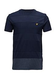 Reverse Stripe T-shirt - NAVY