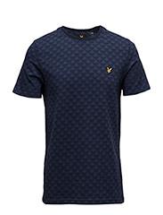 Jacquard T-shirt - NAVY