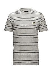 Stripe T-shirt - LIGHT GREY MARL