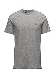 3 Col Mouline T-shirt - LIGHT GREY MARL