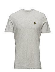 Textured Yoke T-shirt - OFF WHITE MARL