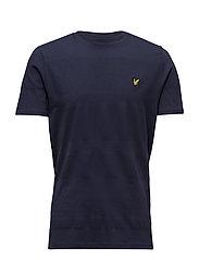 Texture Yoke Detail T- Shirt - NAVY