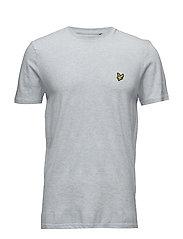 Texture Yoke Detail T- Shirt - SKY BLUE MARL