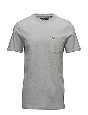 Rain Contrast Pocket T-shirt - LIGHT GREY MARL