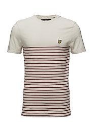 Breton Stripe T-Shirt - POMEGRANATE