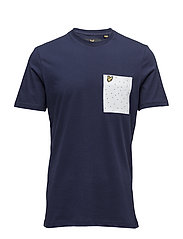 Mini Square Dot Pocket T-Shirt - NAVY