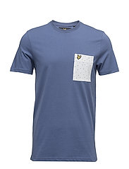 Mini Square Dot Pocket T-Shirt - STORM BLUE