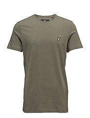 Plain Pick Stitch T-shirt - DUSTY OLIVE