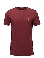 Plain Pick Stitch T-shirt - POMEGRANATE