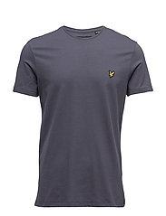 Plain Pick Stitch T-shirt - WASHED GREY