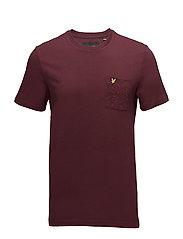 Flecked Pocket T-shirt - CLARET JUG