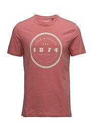 Graphic Print T Shirt - SUNSET PINK