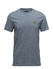 Beachball Print T Shirt - MIST BLUE