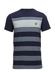 Textured Stripe T-shirt - NAVY