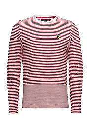 LS Stripe T Shirt - POPPY