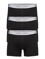 3 Pack Plain Boxers - TRUE BLACK