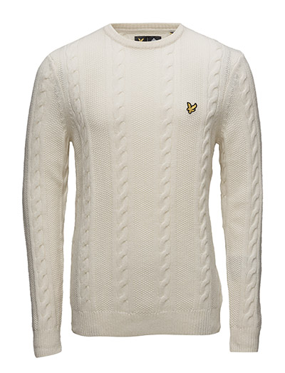 Lyle & Scott Crew Neck Lambswool Cable 5GG Jumper