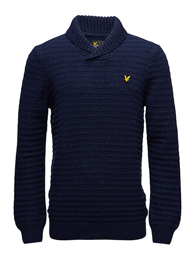 Lyle & Scott Shawl Neck Links 7GG Jumper