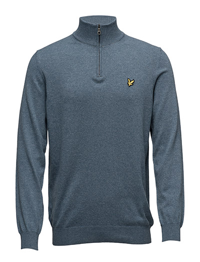 Lyle & Scott 1/4 Zip Cotton Merino Jumper