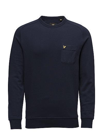 Lyle & Scott Woven Pocket Crew Neck Sweatshirt