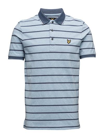 Lyle & Scott Multi-Coloured Birdseye Stripe Polo Shirt
