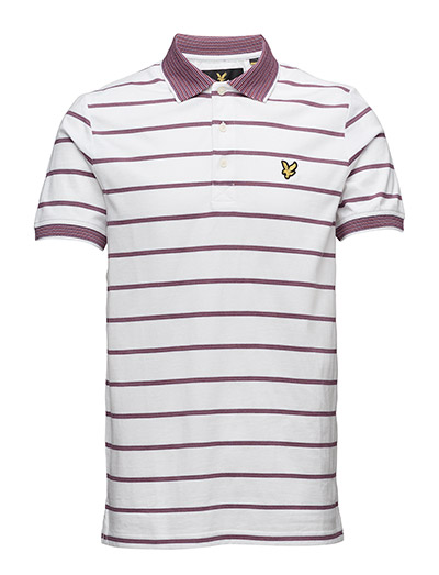 Lyle & Scott Multi-Coloured Birdseye Stripe Polo Shirt