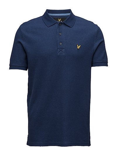 Lyle & Scott Grid Texture Polo Shirt
