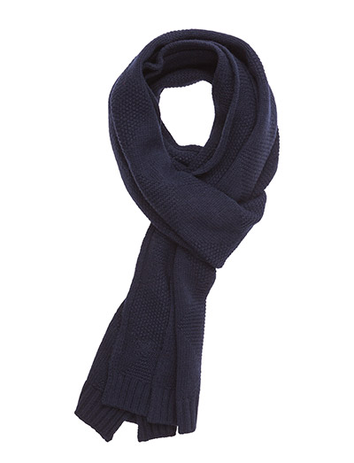 Lyle & Scott Diamond Knitted Scarf