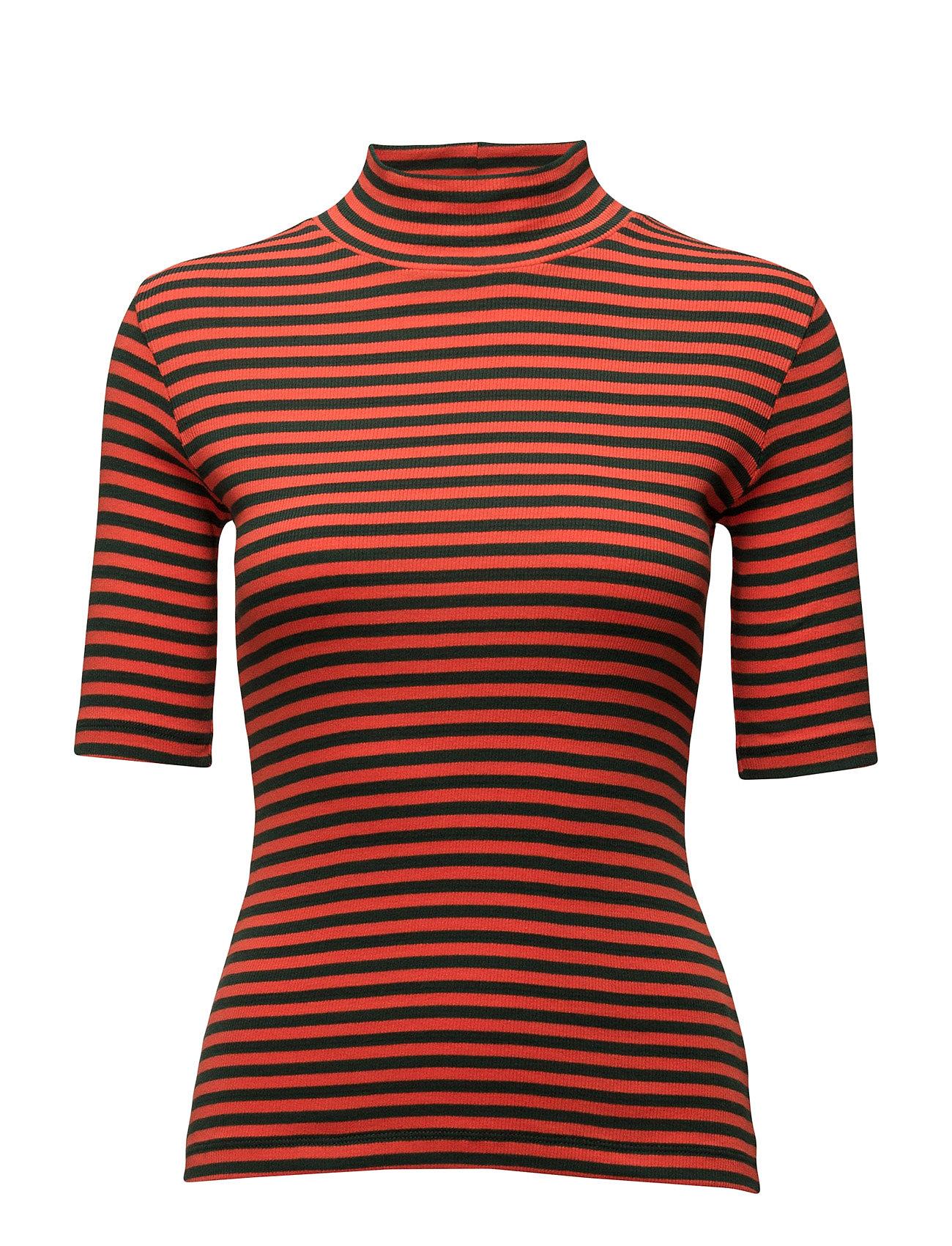 2x2 Soft Stripe Tuqina Mads Nørgaard Kortærmede til Damer i orange