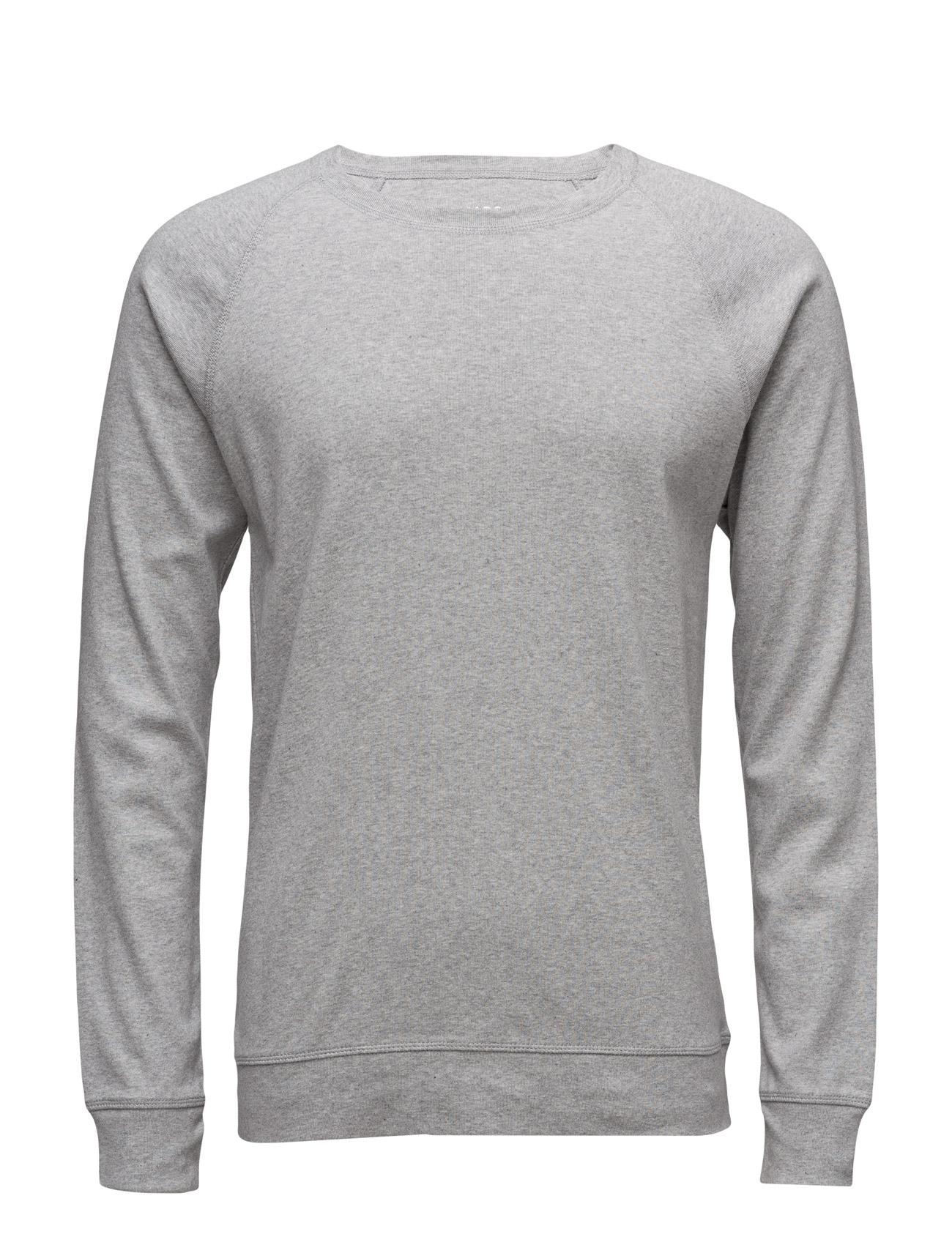 Cotton Rib Stelt 16-3 Mads Nørgaard Langærmede til Herrer i Grey Melange