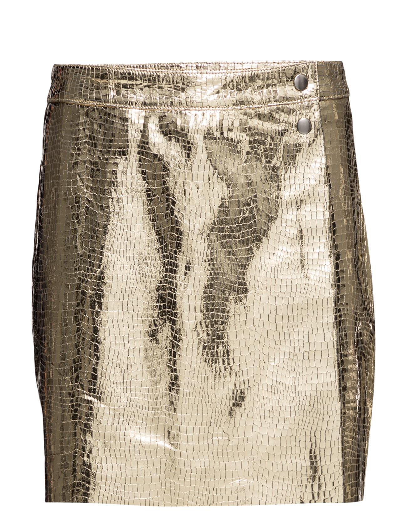 Delicate Leather Sofia Mads Nørgaard Nederdele til Kvinder i Guld