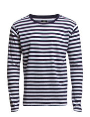 Striped Jersey Tore Long - Navy/White
