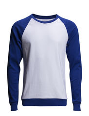 Cotton Rib Stelt Contrast - Blue/White