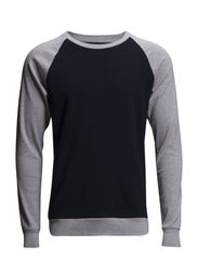 Cotton Rib Stelt Contrast - Grey mel./navy/grey