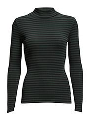 2x2 soft stripe Tuqqa x-long - Dark Green/Black