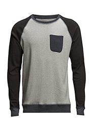 Cotton Rib Stelt Contra Pocket - Black/Grey M/Navy M