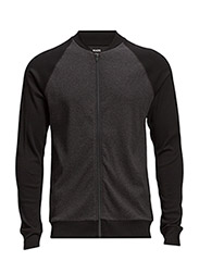 Cotton Rib Stelt Jacket Contra - Black/Charcoal