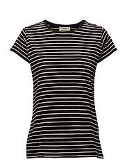 Single stripe Teasy - BLACK/ECRU