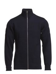 100% Wool Klemens Zip - Navy