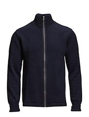 100% Wool Klemens Bubble Zip - Navy