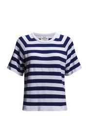 Striped light cotton Kendy - White/Blue