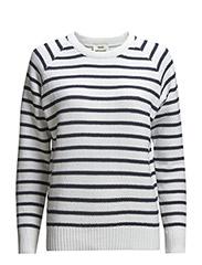 Chunky piquet stripe Kalinga s - White/Navy