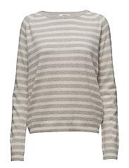 Cosy stripe Kaxa stripe - ECRU/PEARL MELANGE